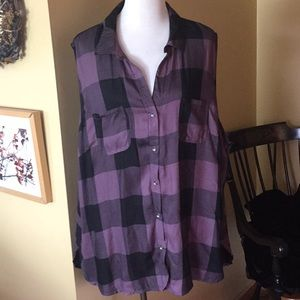 ROCK & REPUBLIC size 3x Buffalo Plaid Tunic $79new